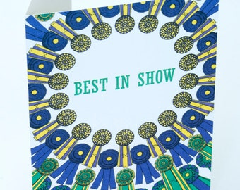 SALE - Congratulations greeting card - Best in show - 50% off