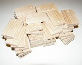 """Ash  wood Tiles blanks for decoupage ( lot of 60 )- (2,36x1,38"""" diameter x 0,24"""" thick)"""