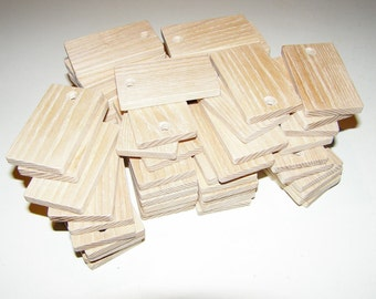 "Ash  wood Tiles blanks for decoupage ( lot of 60 )- (2,36x1,38"" diameter x 0,24"" thick)"