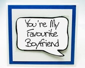 Anniversary Gift for Boyfriends. Funny Valentines Day Card for Couples. Love You Card for Guys. MN193