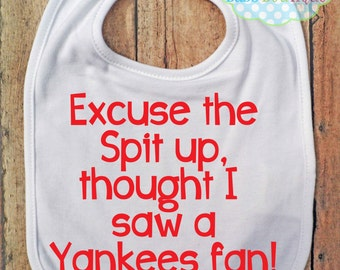 Excuse the spit up Bib - Boston Red Sox - Baseball - Baby Fan Gear