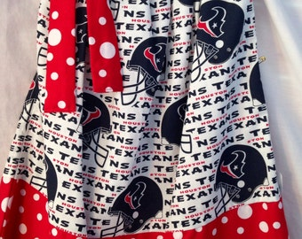 Custom Boutique handmade Houston Texans Pillowcase Dress
