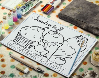 Icecream coloring page, printable coloring page, kids coloring pages, print at home, icecream printable, kids activity page
