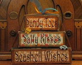 Summer Sign -  Sandy Toes, Salty Kisses, Seashell Wishes Extra Large Word Stacker