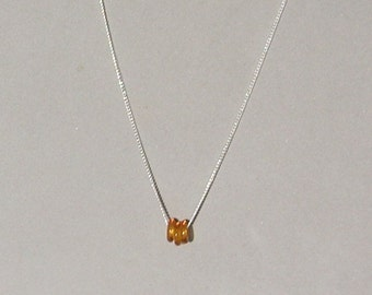 Butterscotch Glass Donuts Necklace