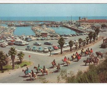 Fiesta Day Parade Yacht Harbor Santa Barbara California 1962 postcard