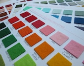 Wool Felt Swatch Card Set - 181 Amazing Colors  (Plus you get a 5 dollar shop credit with purchase)