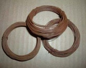 3 Rolls of Assorted Rusted Tin 20 GA 22 GA Twisted Wire 75 ft Primitive Crafts Rustic Western