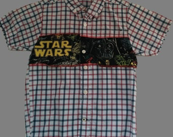 Upcycled Star Wars Shirt, Boys Size 4/5T
