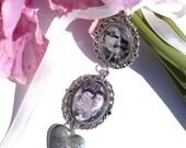 Bouquet Photo Charm Heart, Wedding Bouquet Photo Charm, Memorial Photo Charm, Photo Frame Charm, Double Photo Charm, Bouquet Photo Jewelry