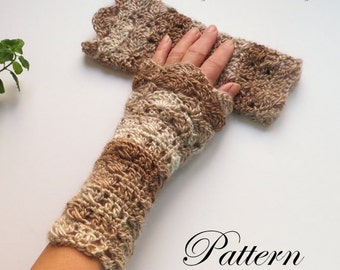 Crochet Arm Warmers PATTERN / Fingerless Gloves / Texting Mitts / Gauntlets / PDF Pattern / Made in Canada
