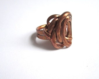 Mid Cent Mod Copper Ring - Size 7