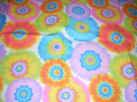 Cotton Fabric Tye Dye Flower Bursts Bright By Quiltsbylauren