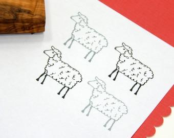 Placid Lamb Olive Wood Stamp