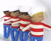 Sailor Jack - Sailor Boy Rag Doll - MADE TO ORDER