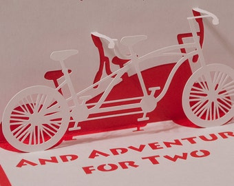 Bicycle Built For Two Pop-Up Card