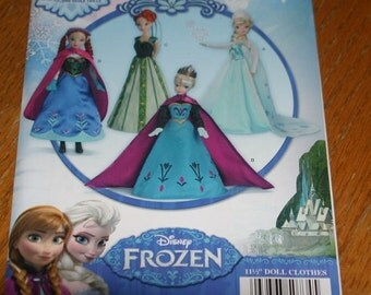 Simplicity S0734 - Frozen Dresses for 11 1/2 inch dolls Barbies - new!