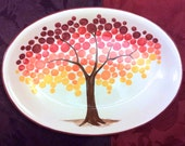 WEDDING GUEST BOOK alternative - Tree Guest Book - Family Tree Platter signature plate -  sign in platter