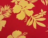 Classic Hawaiian print fabric (Yardage available)