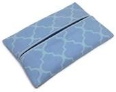 Purse Tissue Holder, Waverly Blue, Kleenex Holder, Travel Tissue Cozy, Pocket Tissue Holder