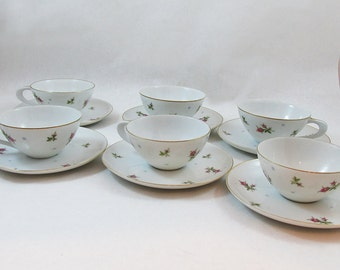 """Set of Six Sango Chintz Cup, saucers and 6"""" desert - bread and buttter plates - 18 Piece Set"""