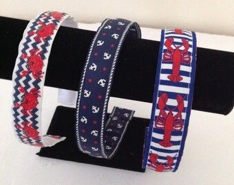 Nautical Headbands in Navy, Red and White by Cheryl's Bowtique