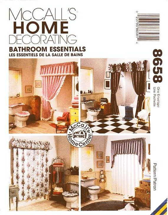 Mccall 39 s bathroom decor pattern 8658 bathroom essentials for Bathroom decor essentials