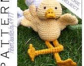 INSTANT DOWNLOAD : Springtime Friends Single (Dilbert the Duck) Crochet Pattern