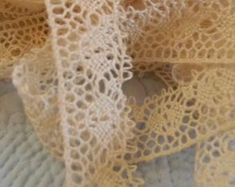 Ivory Crochet Lace - 6 Yards