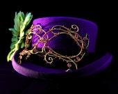 Gold masquerade mask, Masked ball mask, Masquerade ball mask, Wedding mask, Bridal mask, Yellow mask, Plant mask, Womens mask, Handmade mask