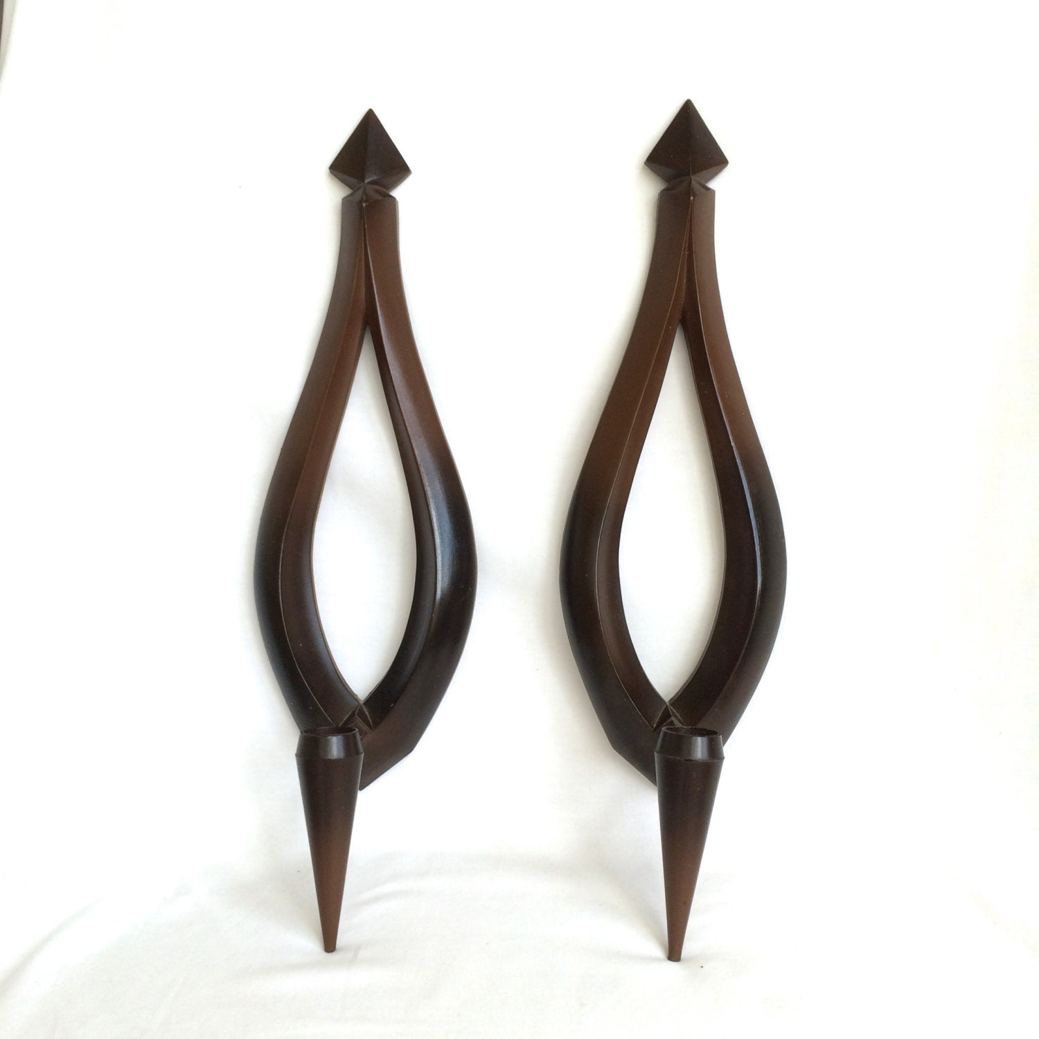 Syroco wall sconces candle holders Mid by EllasAtticVintage
