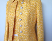 Stunning Spring Yellow And White Vintage 60s Suit