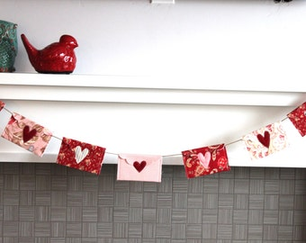 Love Notes Garland in Red and Blush Pink