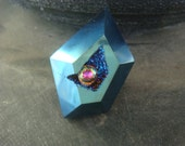 One of a Kind Electric Blue Druzy Ring