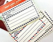 Parcel Post Label Stickers - 8 sheets (3.6 x 2.2in)