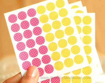 Transparent Circle Deco Stickers - Dot 01 (diameter 0.3 in) 4 sheets