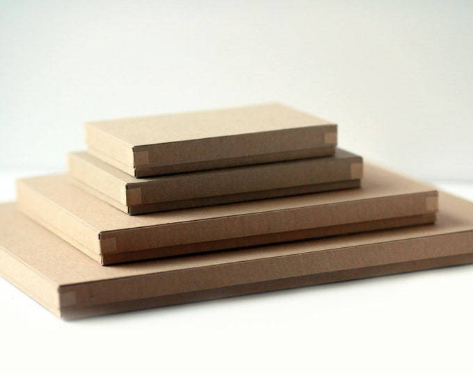 Set of 30 Recycled Kraft Photography Boxes- for 5x7prints