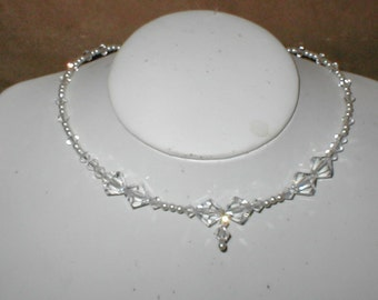 Swarovski Clear Crystal Necklace Bridal