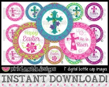 "Easter Blessings - INSTANT DOWNLOAD 1"" Bottle Cap Images 4x6 - 626"