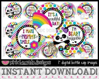 "Beautiful Day - INSTANT DOWNLOAD 1"" Bottle Cap Images 4x6 - 615"