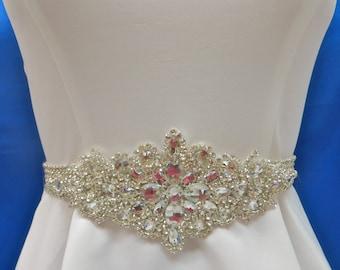 Wedding Bridal Sash, Bridal Wedding Sash, Rhinestone Wedding Sash, Bling Crystal Sash, Sparkling   Swarovski Sash