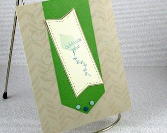 Graduation Card Handmade Celebrate You Congratulations the Sky is the Limit Kites for Graduate