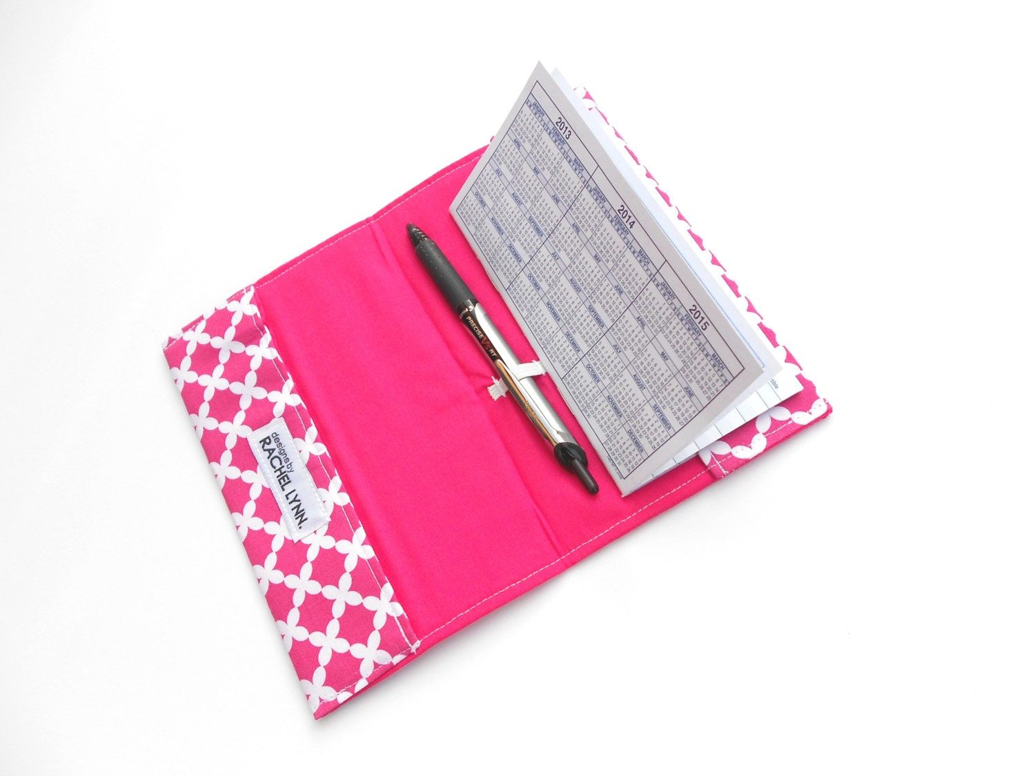 Pretty Cheque Book Cover ~ Hot pink checkbook cover custom check book covers