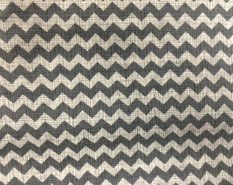 Chevrons in Gray on a Creamy White Background from Timeless Treasures - Half Yard