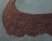 Pattern Only Woodland Crescent Shaped Shawlette