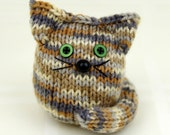 Hand-knitted Soft Kitten, stuffed toy ginger cat, knit toy, amigurumi
