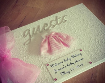 Baby Shower Guest Book - Pink Dress