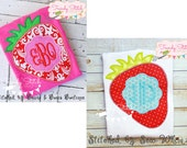 Strawberry Patch Applique Design Machine Embroidery Design INSTANT DOWNLOAD Stand