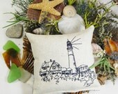 Portland Head Lighthouse, Balsam Sachet Pillow, Lighthouse Nautical, Maine Balsam Fir, Made in Maine USA