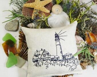 Portland Head Lighthouse, Balsam Sachet Pillow, Lighthouse Nautical, Maine Balsam Fir, Made in Maine USA